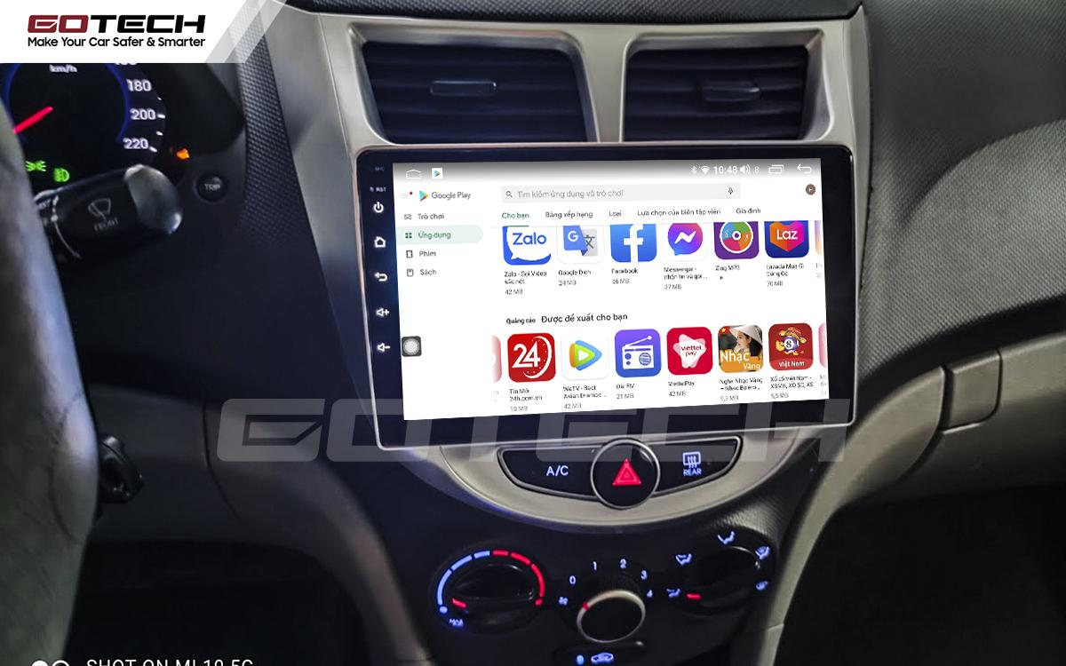Giải trí đa phương tiện trên màn hình ô tô thông minh GOTECH cho xe Hyundai Accent 2011-2016