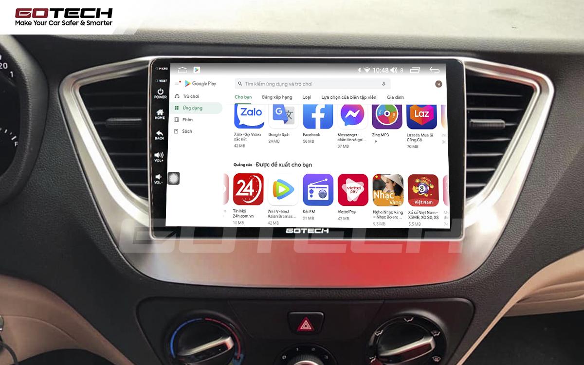 Giải trí đa phương tiện trên màn hình ô tô thông minh GOTECH cho xe Hyundai Accent 2018-2020
