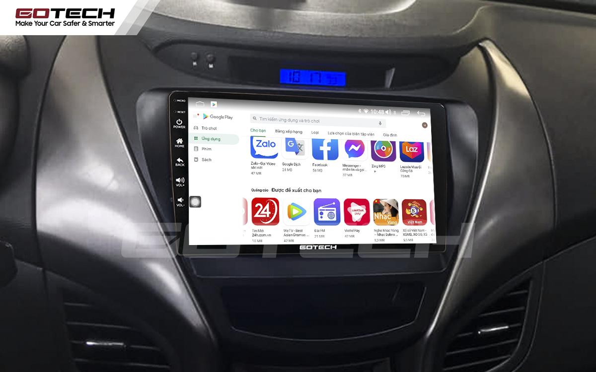 Giải trí đa phương tiện trên màn hình ô tô thông minh GOTECH cho xe Hyundai Elantra 2013-2015