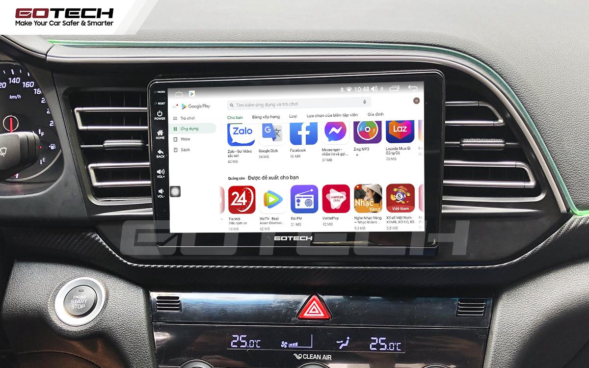 Giải trí đa phương tiện trên màn hình ô tô thông minh GOTECH cho xe Hyundai Elantra 2019-2020