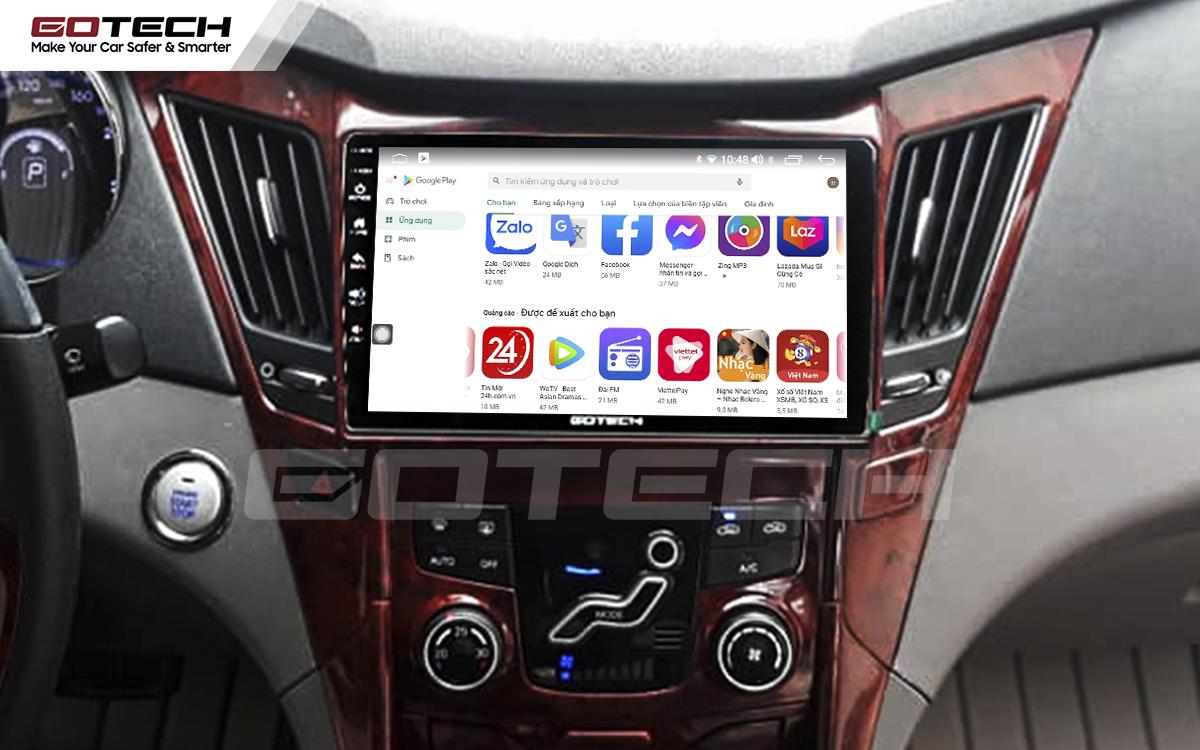Giải trí đa phương tiện trên màn hình ô tô thông minh GOTECH cho xe Hyundai Sonata 2010-2013