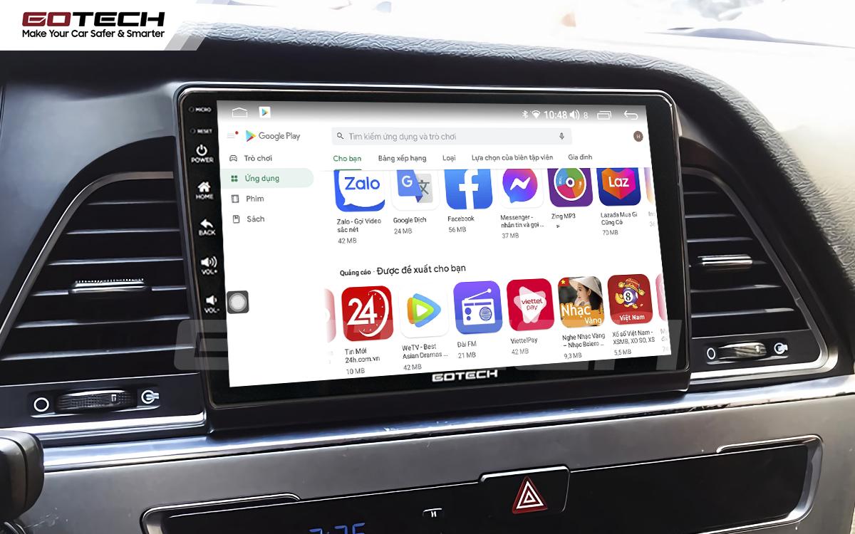 Giải trí đa phương tiện trên màn hình ô tô thông minh GOTECH cho xe Hyundai Sonata 2015-2018
