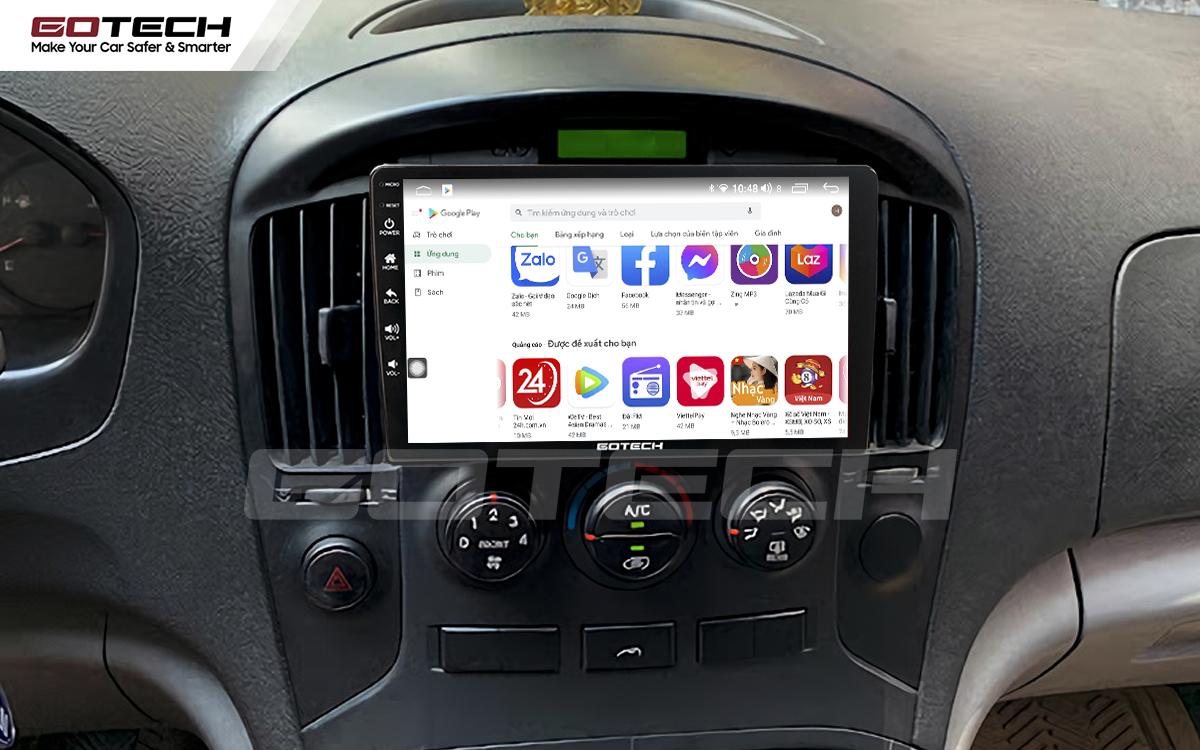 Giải trí đa phương tiện trên màn hình ô tô thông minh GOTECH cho xe Hyundai Starex 2016-2019