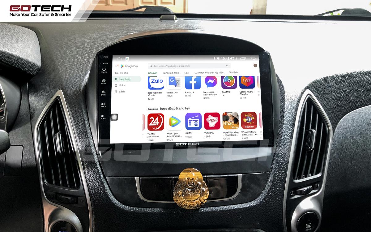 Giải trí đa phương tiện trên màn hình ô tô thông minh GOTECH cho xe Hyundai Tucson 2010-2014