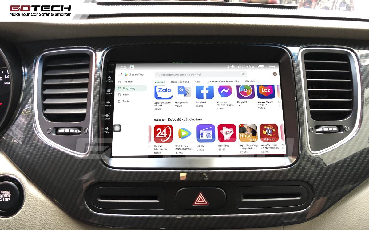 Giải trí đa phương tiện trên màn hình ô tô thông minh GOTECH cho xe Kia Rondo 2014-2020