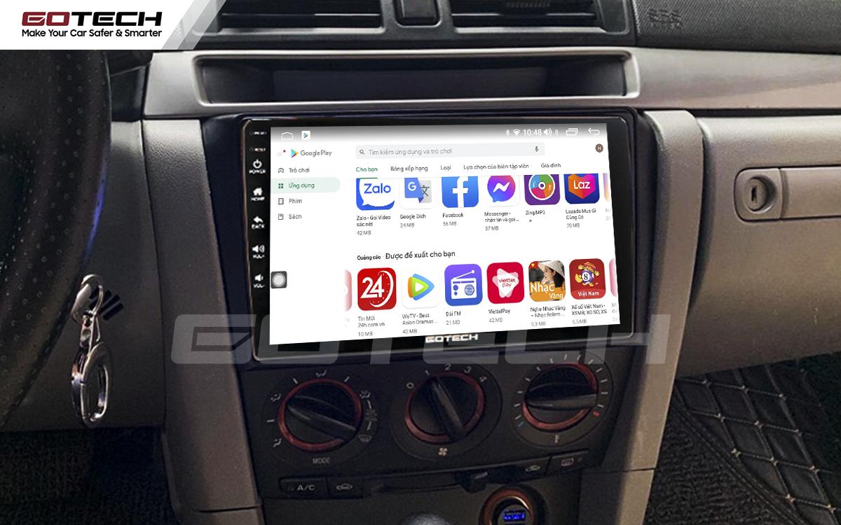 Giải trí đa phương tiện trên màn hình ô tô thông minh GOTECH cho xe Mazda 3 2004-2009