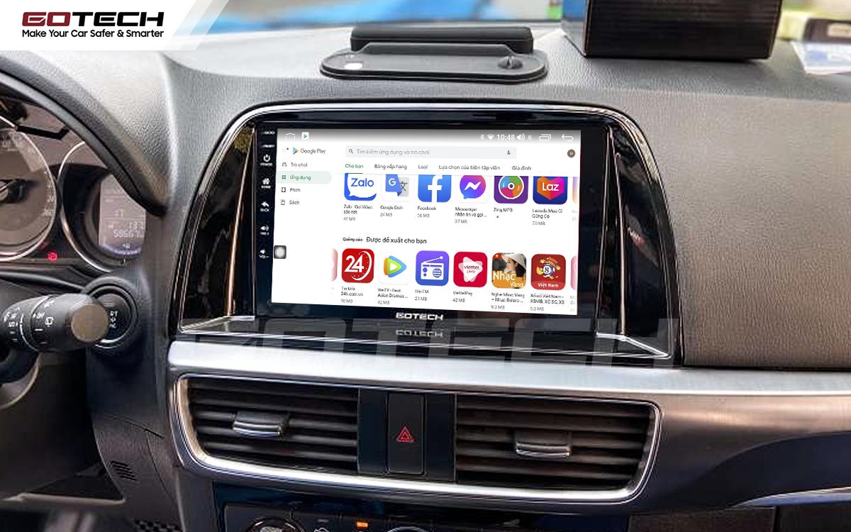 Giải trí đa phương tiện trên màn hình ô tô thông minh GOTECH cho xe Mazda Cx5 2016-2017