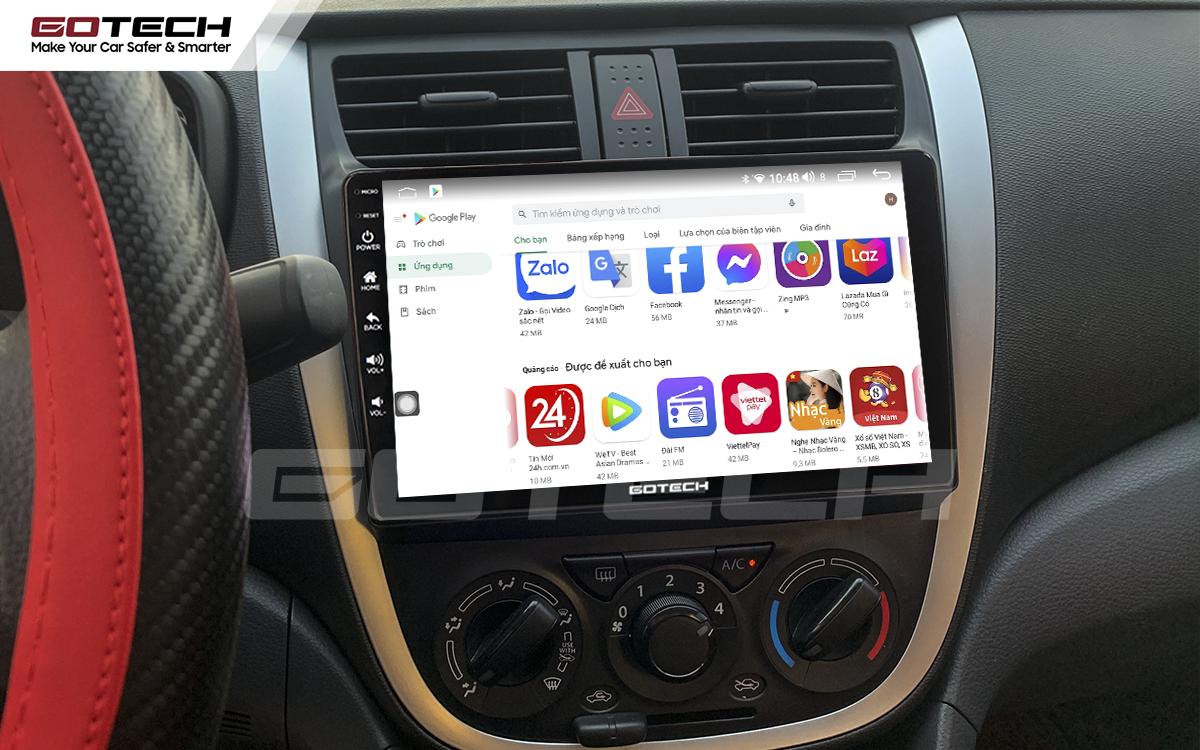 Giải trí đa phương tiện trên màn hình ô tô thông minh GOTECH cho xe Suzuki Celerio 2018-2020