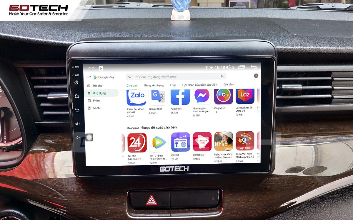Giải trí đa phương tiện trên màn hình ô tô thông minh GOTECH cho xe Suzuki Ertiga 2019-2020