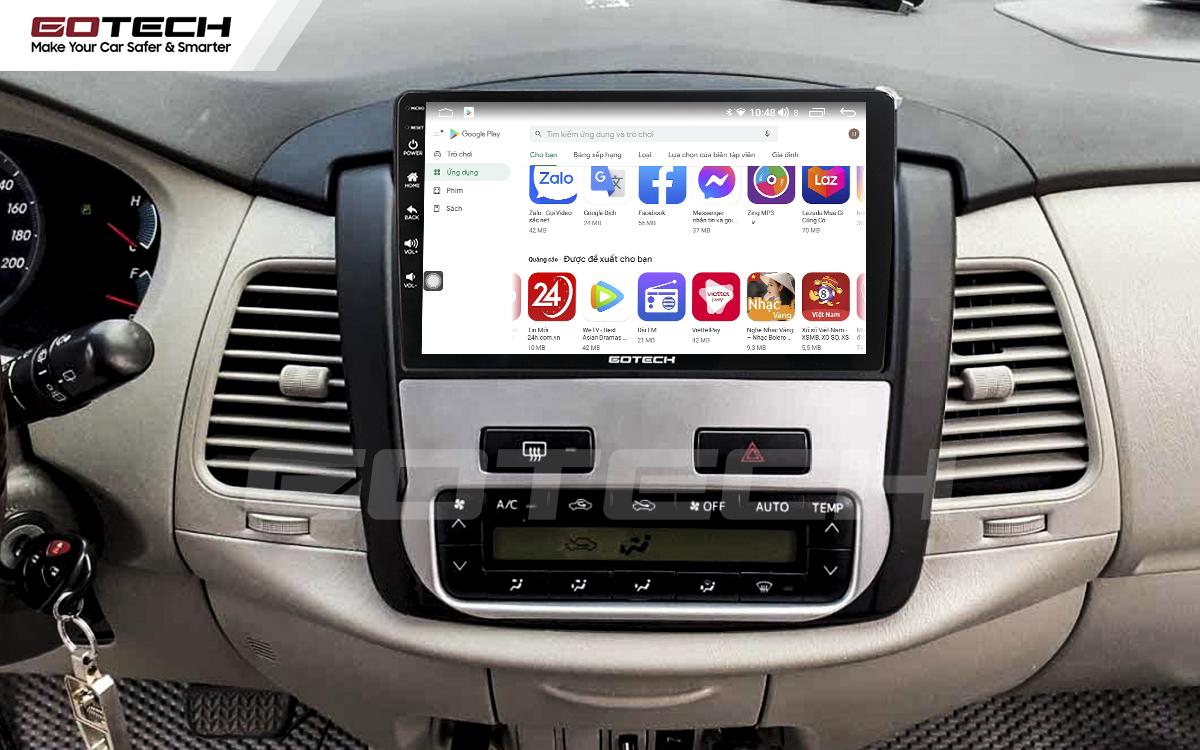 Giải trí đa phương tiện trên màn hình ô tô thông minh GOTECH cho xe Toyota Innova 2012-2016