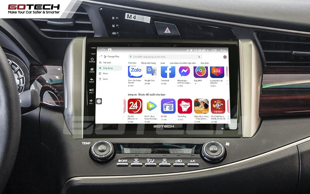 Giải trí đa phương tiện trên màn hình ô tô thông minh GOTECH cho xe Toyota Innova 2018-2020