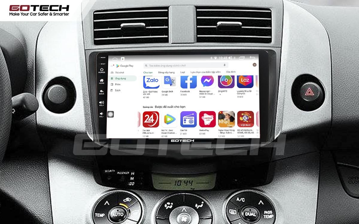 Giải trí đa phương tiện trên màn hình ô tô thông minh GOTECH cho xe Toyota Rav4 2006-2011