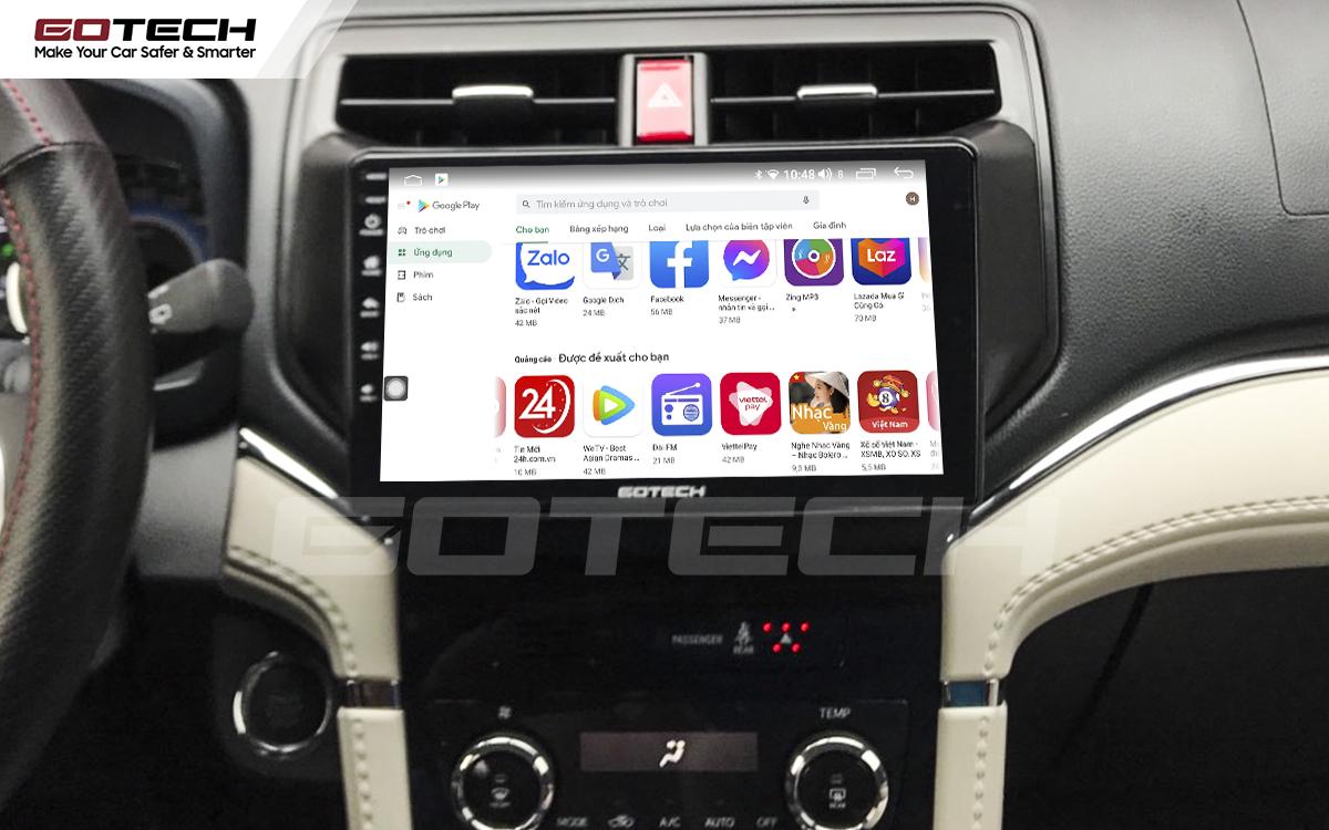 Giải trí đa phương tiện trên màn hình ô tô thông minh GOTECH cho xe Toyota Rush 2018-2020