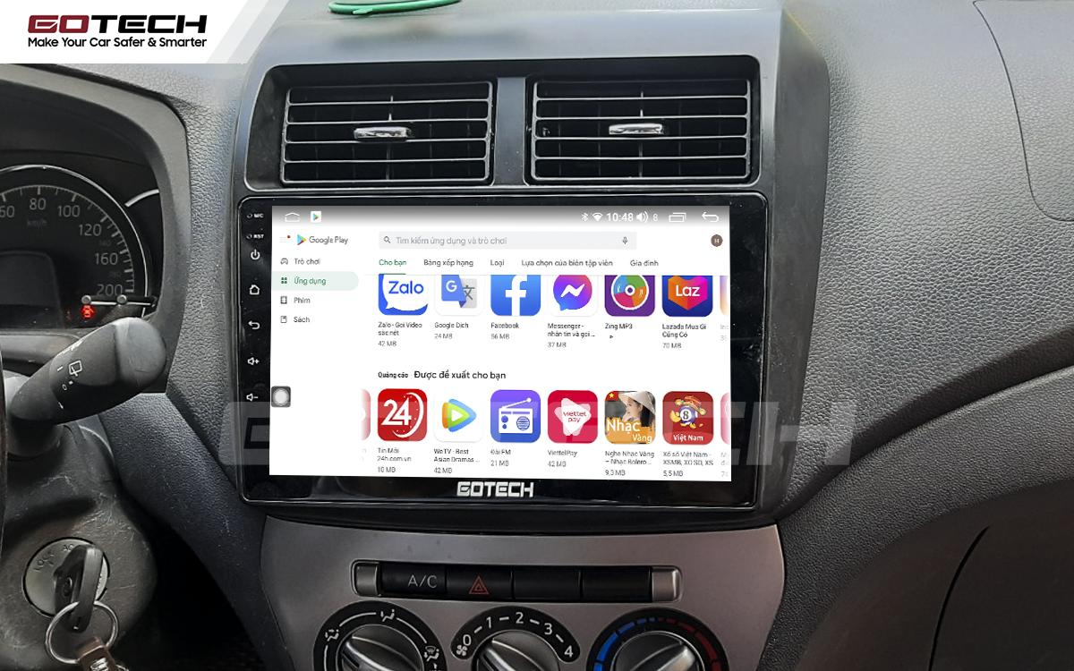 Giải trí đa phương tiện trên màn hình ô tô thông minh GOTECH cho xe Toyota Wigo 2018-2020
