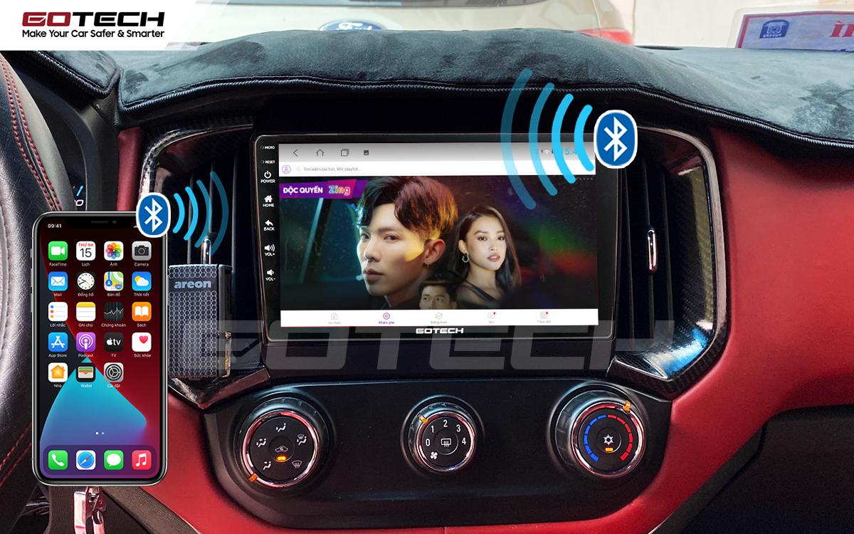 Kết nối Apple Carplay thông minh trên màn hình ô tô thông minh GOTECH cho xe Chevrolet Colorado 2017-2020