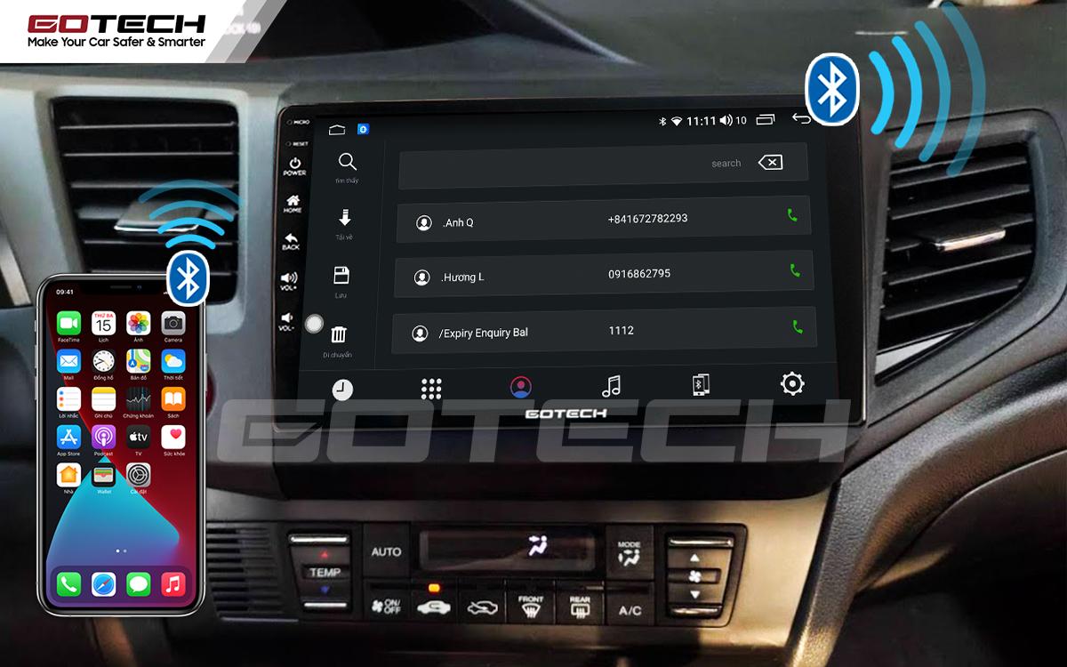 Kết nối Apple Carplay thông minh trên màn hình ô tô thông minh GOTECH cho xe Honda Civic 2013-2015
