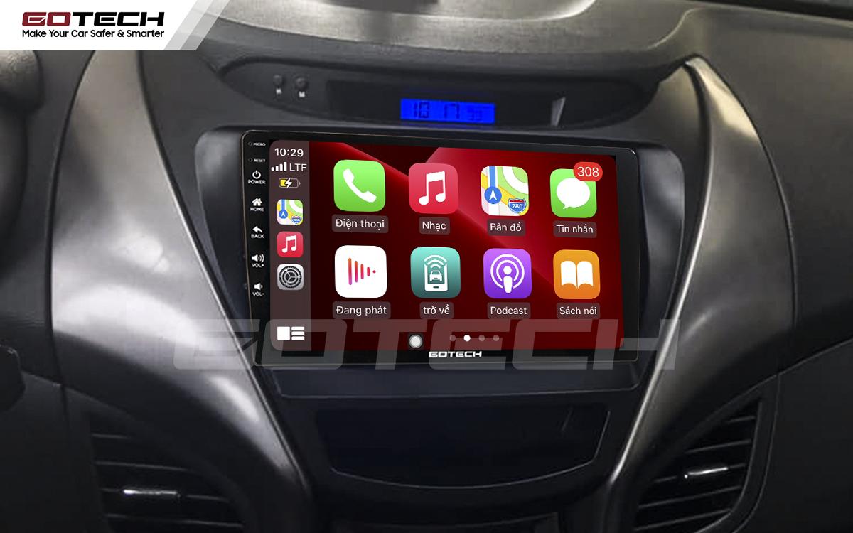 Kết nối Apple Carplay thông minh trên màn hình ô tô thông minh GOTECH cho xe Hyundai Elantra 2013-2015
