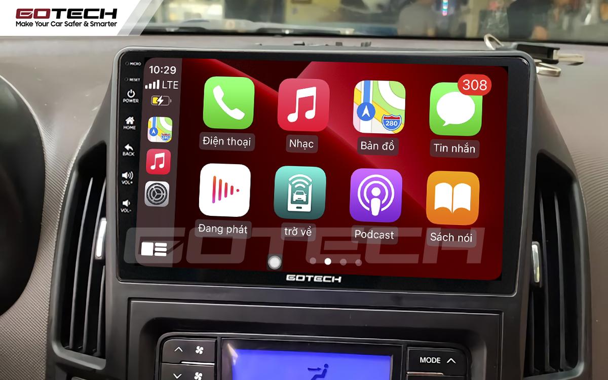 Kết nối Apple Carplay thông minh trên màn hình ô tô thông minh GOTECH cho xe Hyundai i30 2008-2013