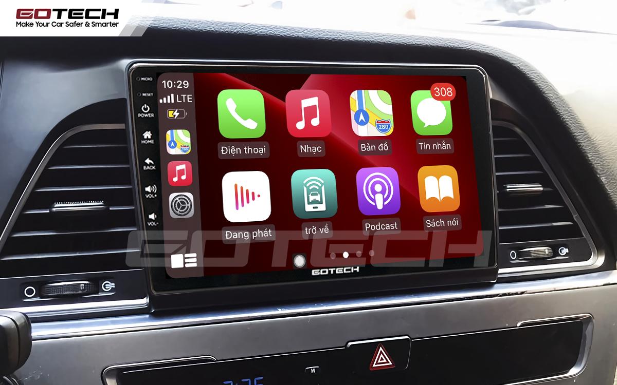 Kết nối Apple Carplay thông minh trên màn hình ô tô thông minh GOTECH cho xe Hyundai Sonata 2015-2018