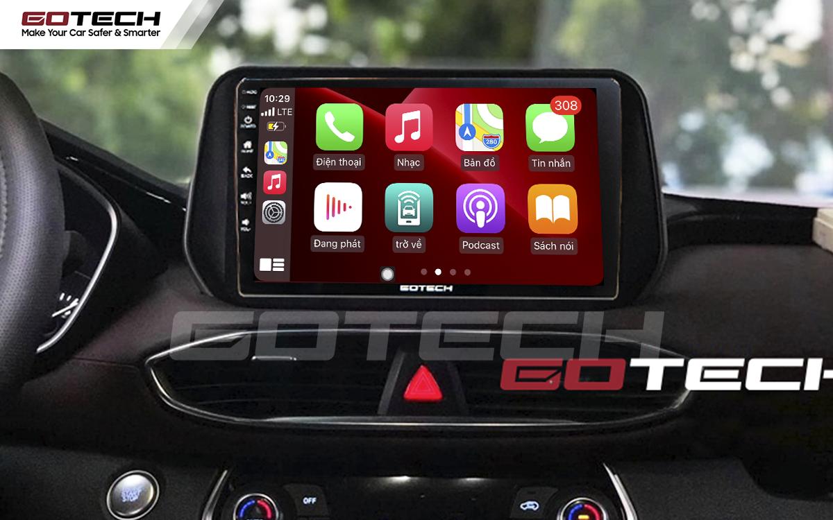 Kết nối Apple Carplay thông minh trên màn hình ô tô thông minh GOTECH cho xe Hyundai Tucson 2019-2020