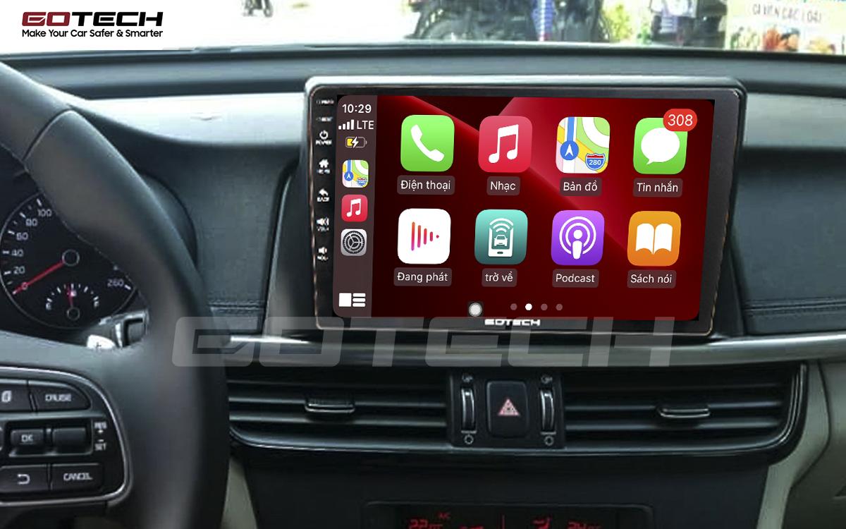 Kết nối Apple Carplay thông minh trên màn hình ô tô thông minh GOTECH cho xe Kia K5 Optima 2017-2020