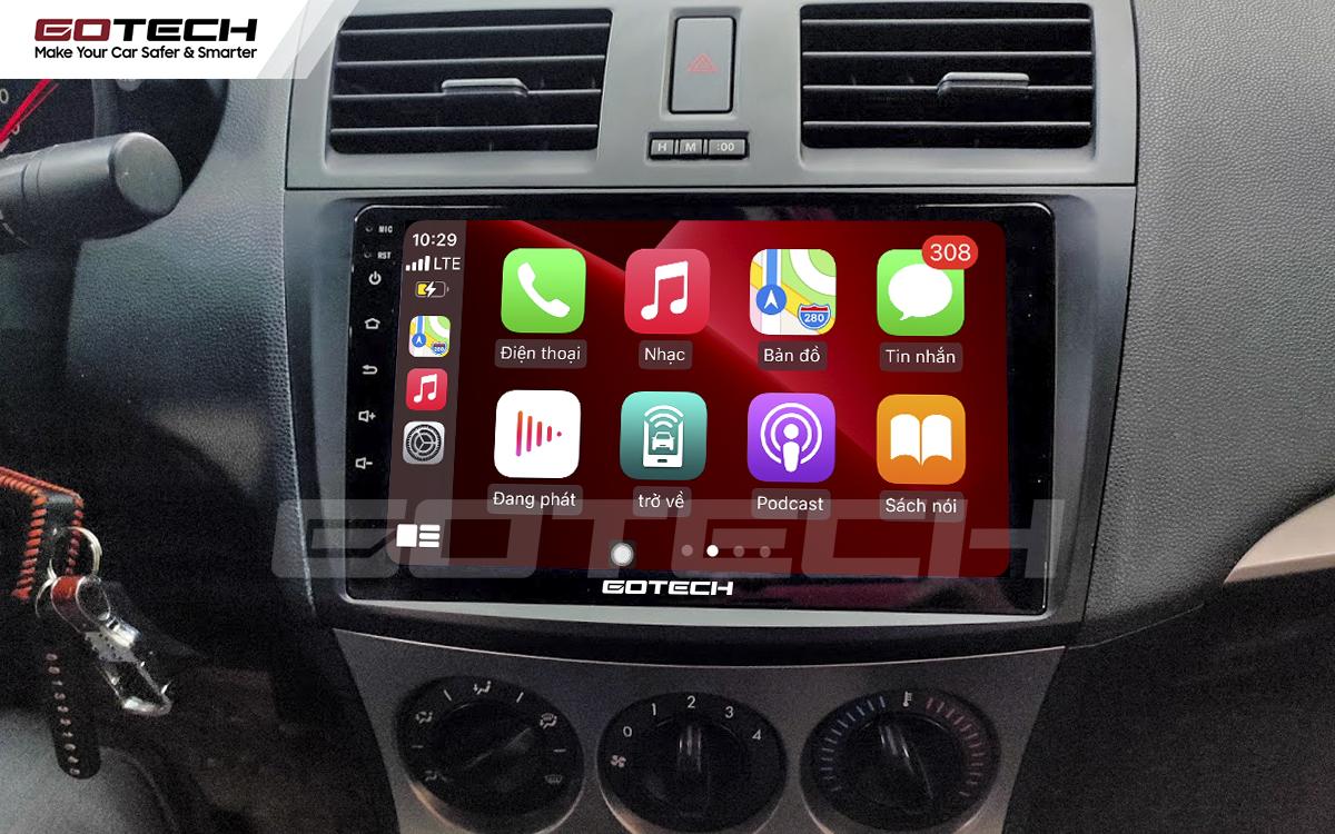 Kết nối Apple Carplay thông minh trên màn hình ô tô thông minh GOTECH cho xe Mazda 3 2010-2013