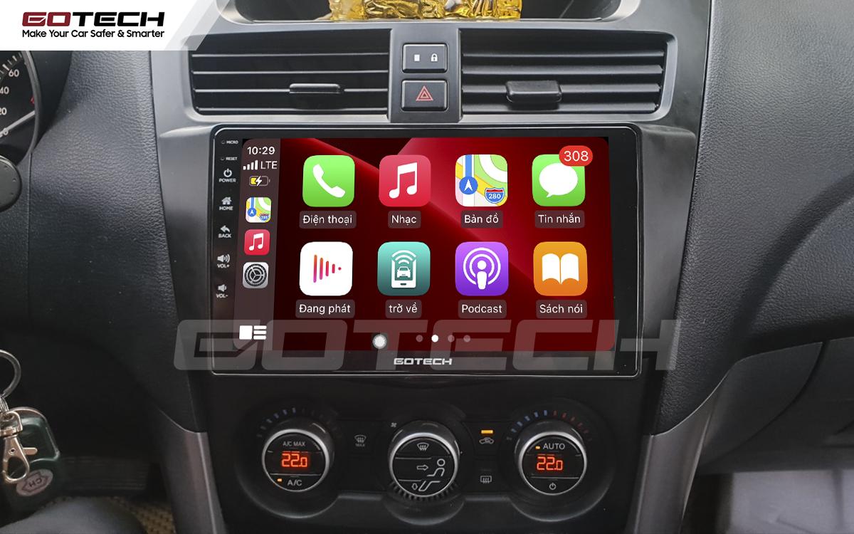 Kết nối Apple Carplay thông minh trên màn hình ô tô thông minh GOTECH cho xe Mazda BT50 2012-2018