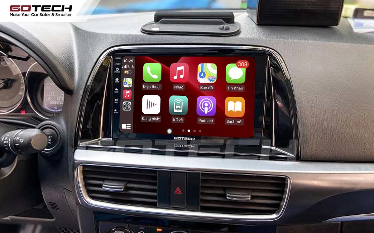 Kết nối Apple Carplay thông minh trên màn hình ô tô thông minh GOTECH cho xe Mazda Cx5 2016-2017