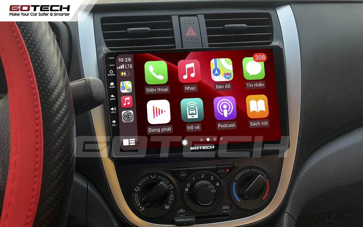 Kết nối Apple Carplay thông minh trên màn hình ô tô thông minh GOTECH cho xe Suzuki Celerio 2018-2020