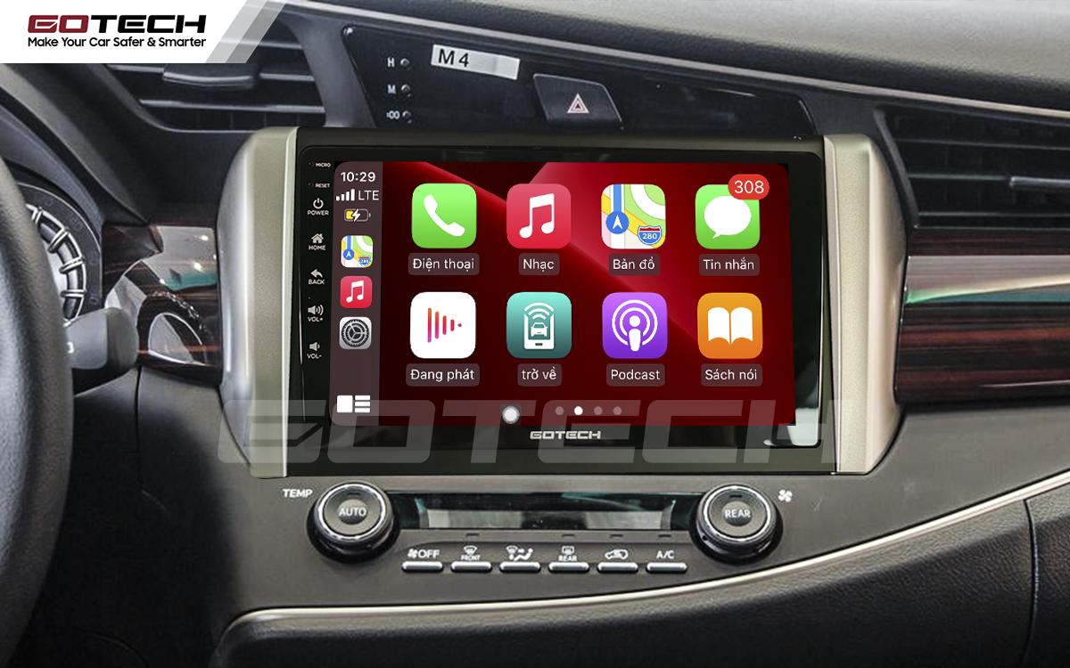 Kết nối Apple Carplay thông minh trên màn hình ô tô thông minh GOTECH cho xe Toyota Innova 2018-2020