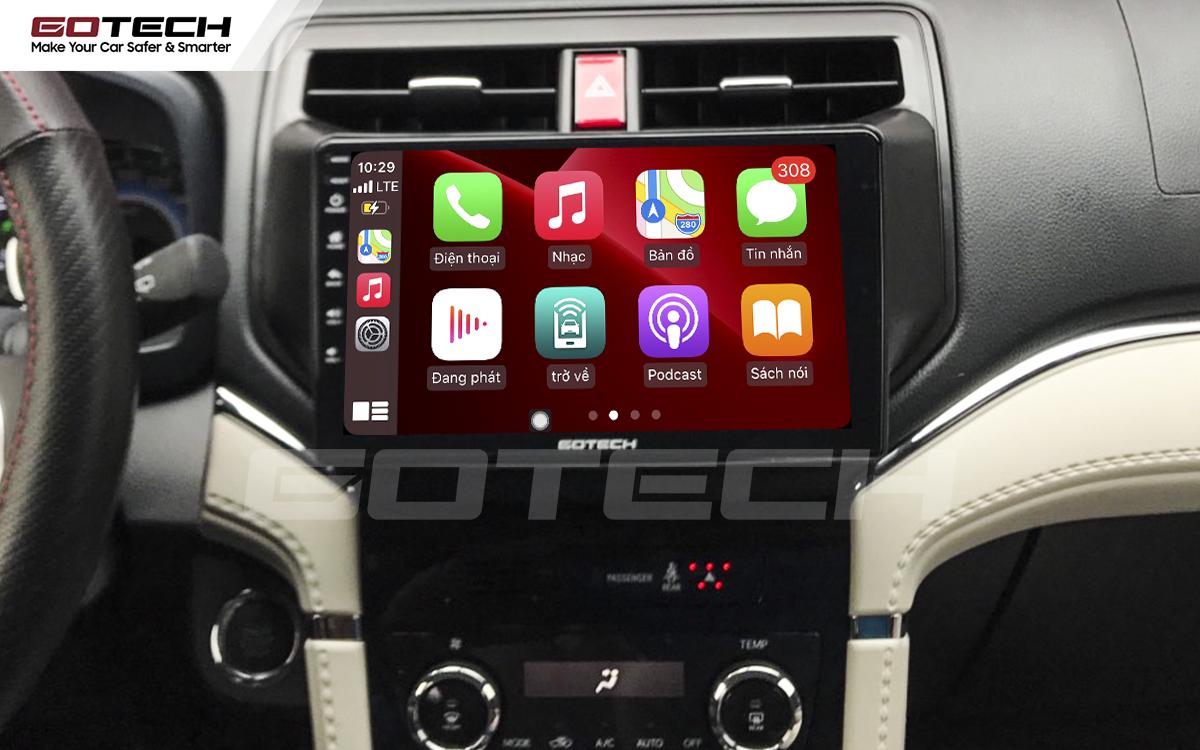Kết nối Apple Carplay thông minh trên màn hình ô tô thông minh GOTECH cho xe Toyota Rush 2018-2020
