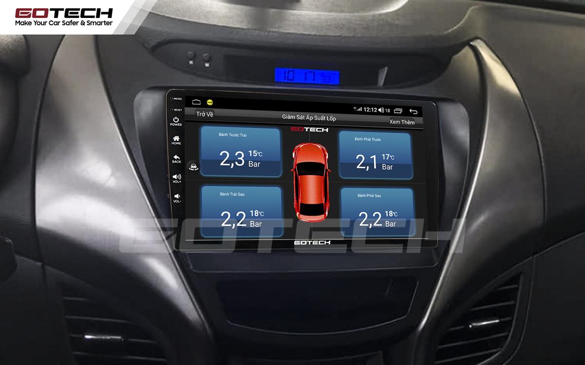 Kết nối cảm biến áp suất lốp trên màn hình ô tô thông minh GOTECH cho xe Hyundai Elantra 2013-2015