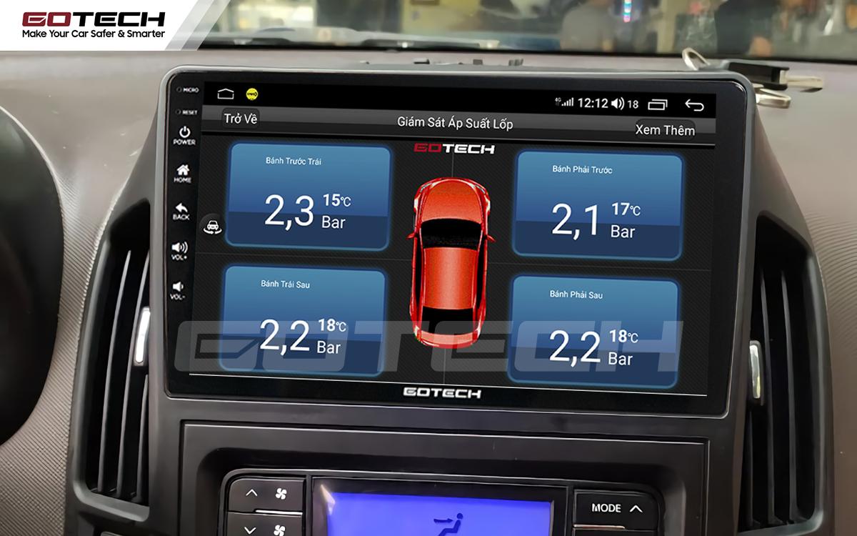 Kết nối cảm biến áp suất lốp trên màn hình ô tô thông minh GOTECH cho xe Hyundai i30 2008-2013