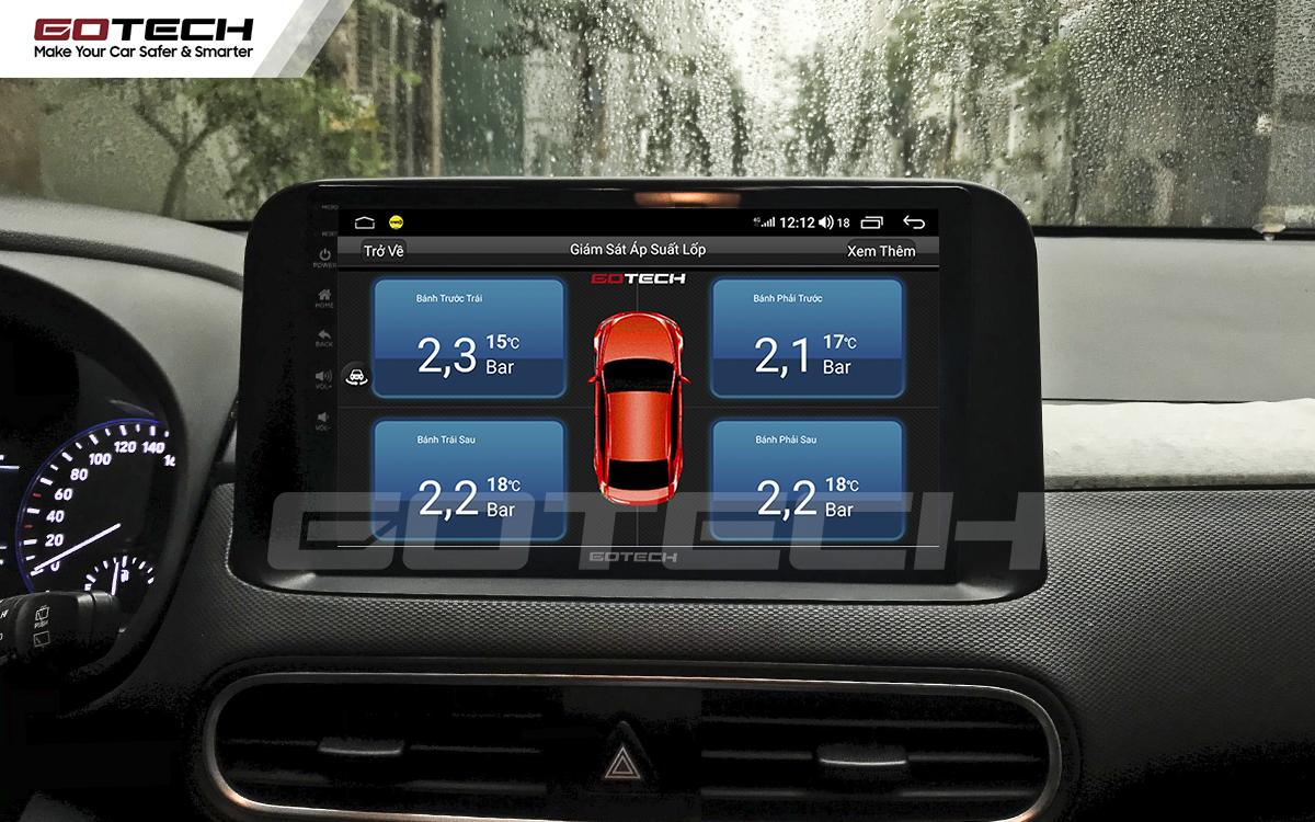 Kết nối cảm biến áp suất lốp trên màn hình ô tô thông minh GOTECH cho xe Hyundai Kona 2018-2020