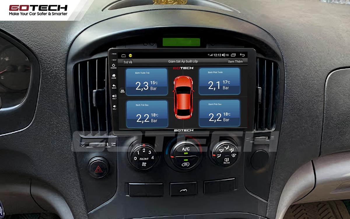 Kết nối cảm biến áp suất lốp trên màn hình ô tô thông minh GOTECH cho xe Hyundai Starex 2016-2019