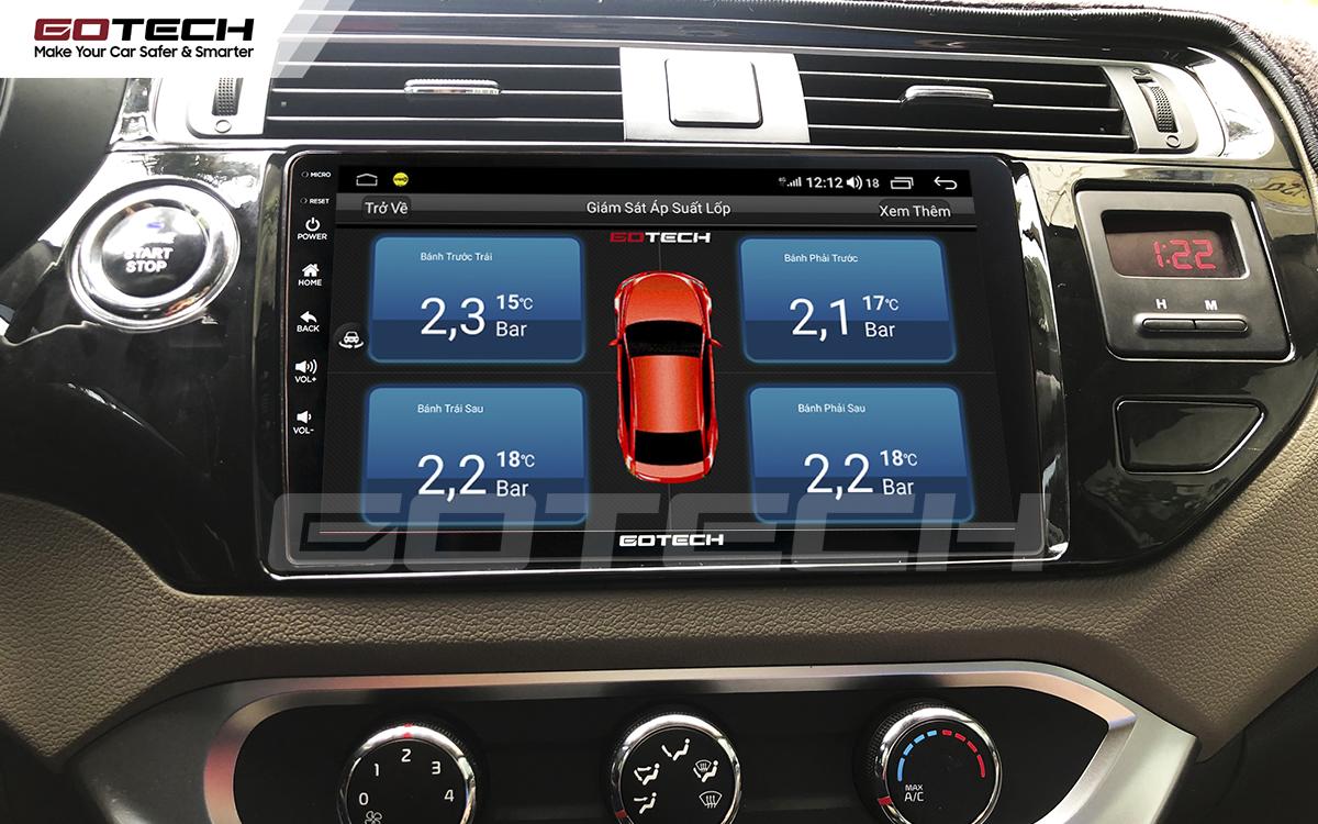Kết nối cảm biến áp suất lốp trên màn hình ô tô thông minh GOTECH cho xe Kia Rio 2016-2018