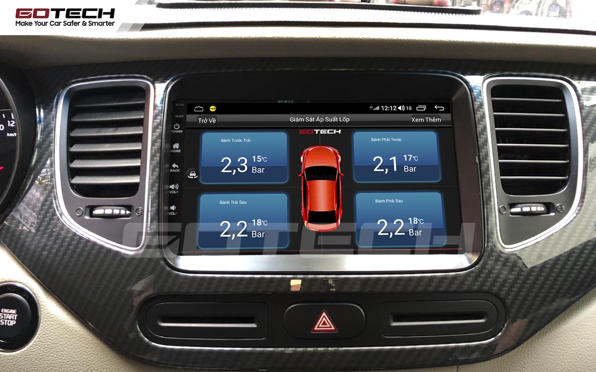 Kết nối cảm biến áp suất lốp trên màn hình ô tô thông minh GOTECH cho xe Kia Rondo 2014-2020
