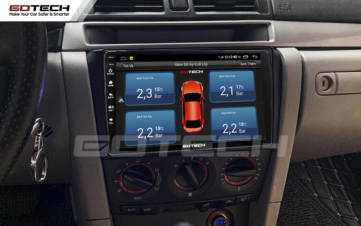 Kết nối cảm biến áp suất lốp trên màn hình ô tô thông minh GOTECH cho xe Mazda 3 2004-2009