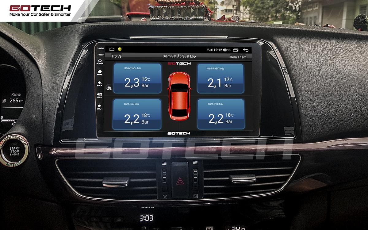 Kết nối cảm biến áp suất lốp trên màn hình ô tô thông minh GOTECH cho xe Mazda 6 2014-2016