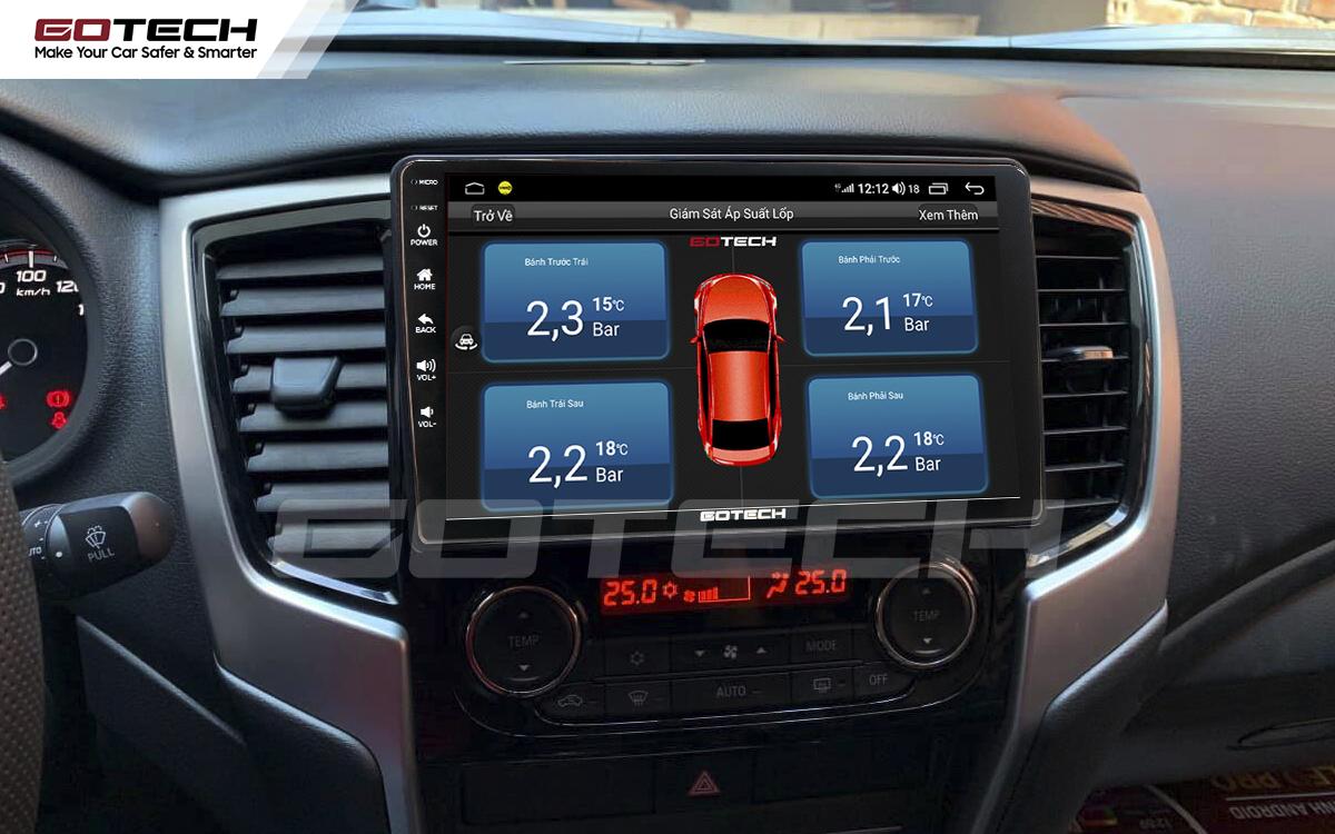 Kết nối cảm biến áp suất lốp trên màn hình ô tô thông minh GOTECH cho xe Mitsubishi Triton 2019-2020