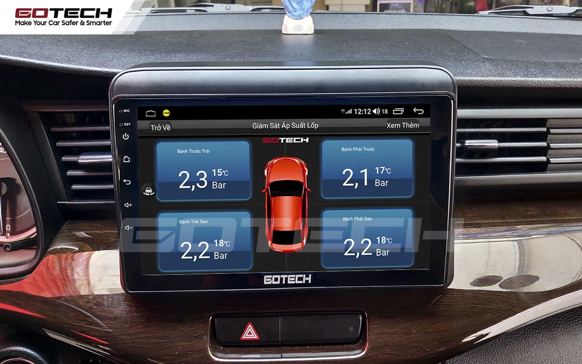 Kết nối cảm biến áp suất lốp trên màn hình ô tô thông minh GOTECH cho xe Suzuki Ertiga 2019-2020