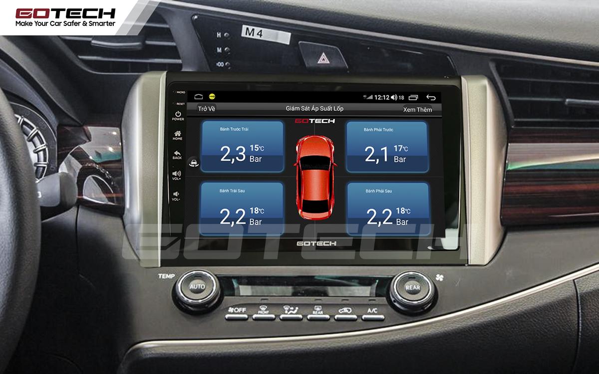 Kết nối cảm biến áp suất lốp trên màn hình ô tô thông minh GOTECH cho xe Toyota Innova 2018-2020