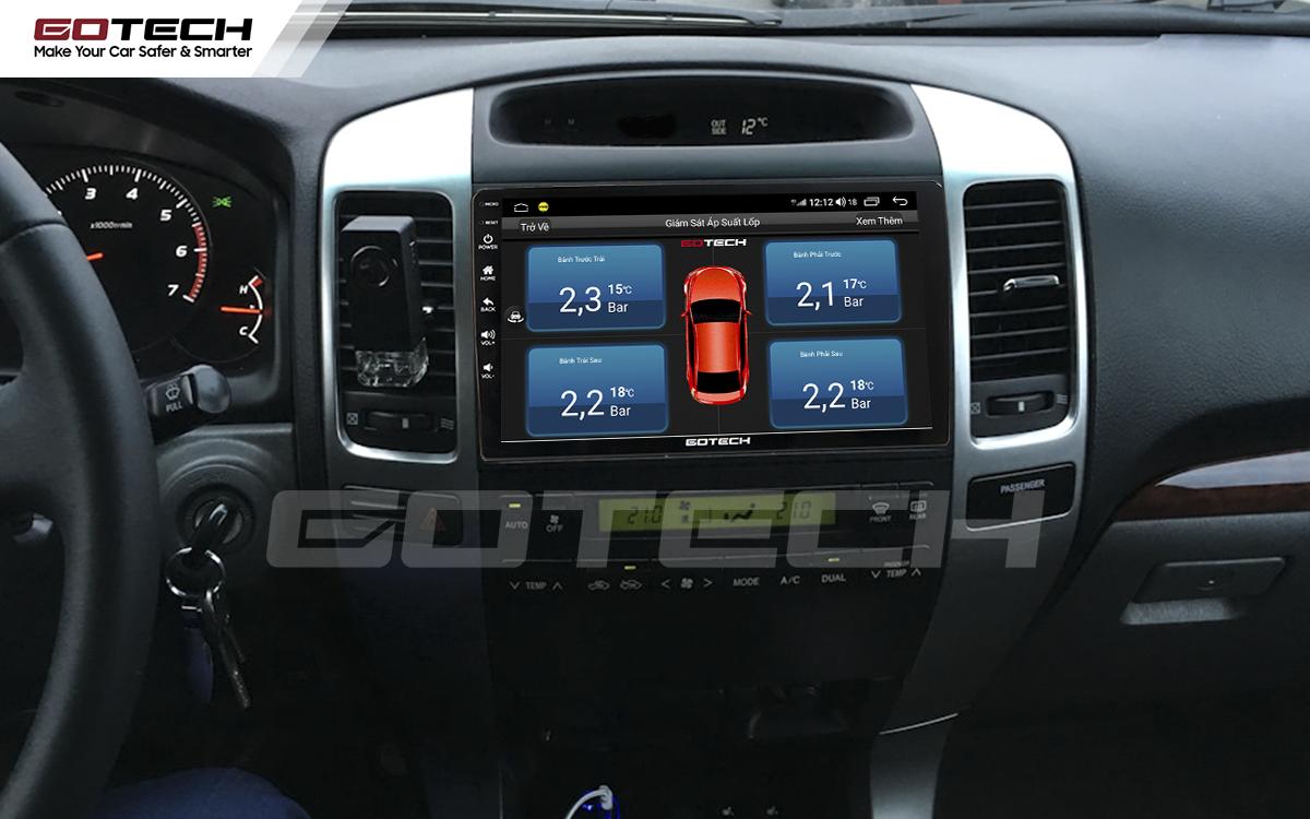 Kết nối cảm biến áp suất lốp trên màn hình ô tô thông minh GOTECH cho xe Toyota Land Cruiser 2003-2007