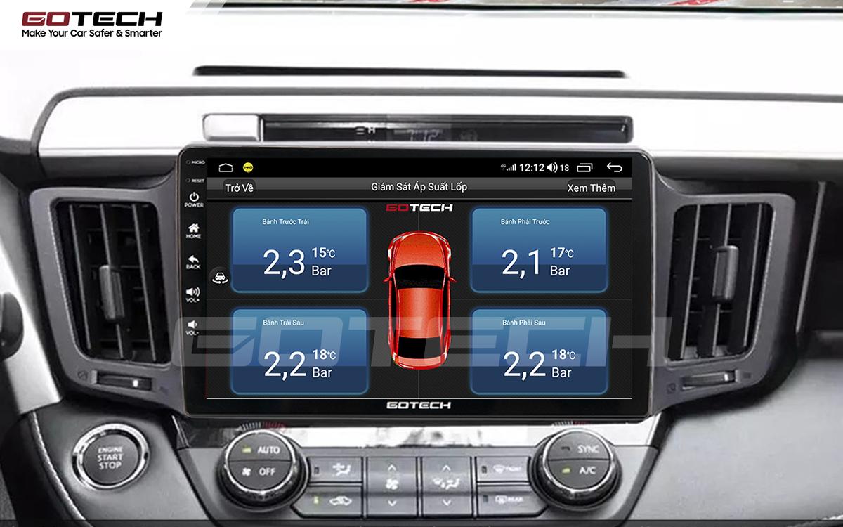 Kết nối cảm biến áp suất lốp trên màn hình ô tô thông minh GOTECH cho xe Toyota Rav4 2013-2014