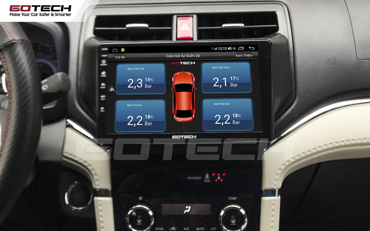 Kết nối cảm biến áp suất lốp trên màn hình ô tô thông minh GOTECH cho xe Toyota Rush 2018-2020