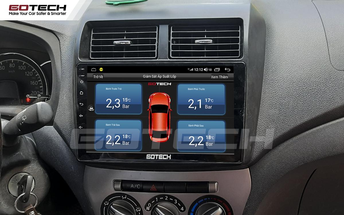 Kết nối cảm biến áp suất lốp trên màn hình ô tô thông minh GOTECH cho xe Toyota Wigo 2018-2020