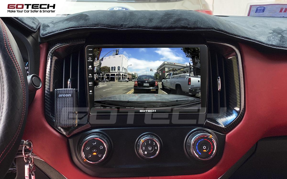 Kết nối với camera hành trình trên màn hình android GOTECH cho xe Chevrolet Colorado 2017-2020