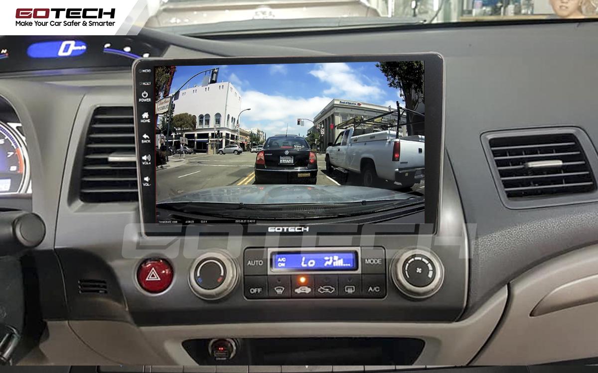 Kết nối với camera hành trình trên màn hình android GOTECH cho xe Honda Civic 2007-2012