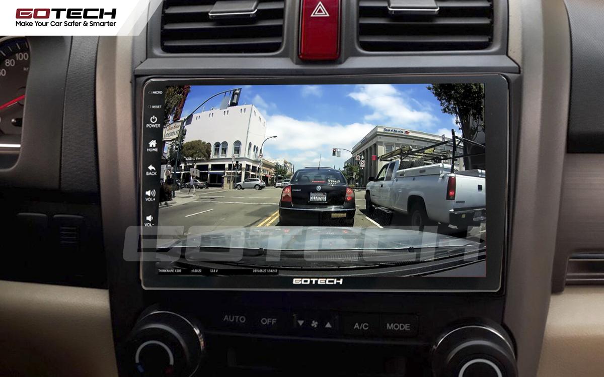 Kết nối với camera hành trình trên màn hình android GOTECH cho xe Honda Crv 2007-2012