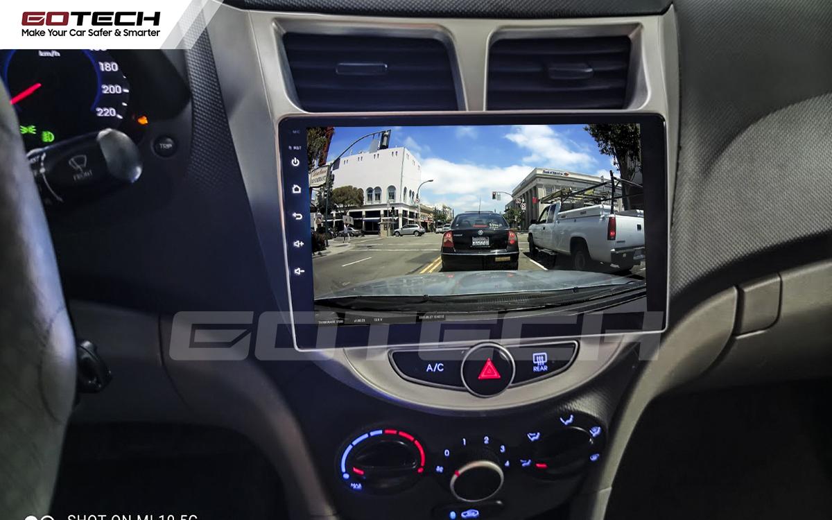 Kết nối với camera hành trình trên màn hình android GOTECH cho xe Hyundai Accent 2011-2016